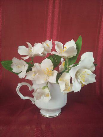 жасмин, украшение, обруч, заколка, цветы, интерьер,