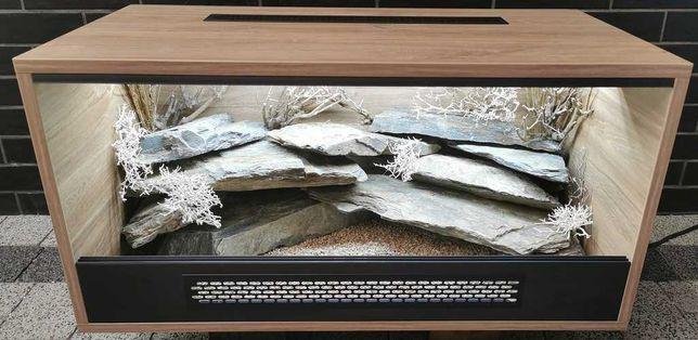 Terrarium naturalne nr22 80/40/40 dla gekona lamparciego