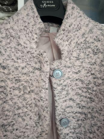 Plaszczyk wiosenny pudrowy roz z szaroscia,stan idealny,nowa Cena!