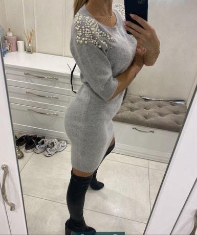 Ангоровое платье Италия