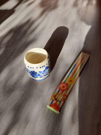 Świeczki PRL i ceramika woclawek