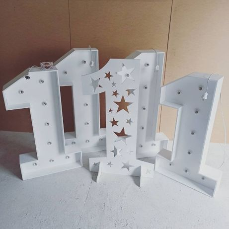 Одиничка единичка цифра один годик день рождения тубус декор фотозона