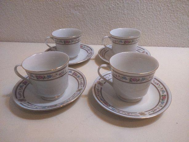 Retro Vintage Serviço Chá 4 pax Porcelana Chinesa
