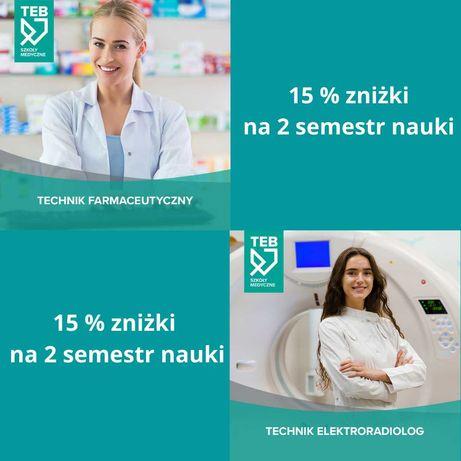 Rabat na naukę w TEB Edukacja Opole! --- Kierunki Medyczne--- 15%