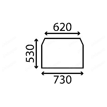 Szyba szyberdach manitou MT 932 MT 932 D-E3 Serie MT 932 Easy ACX597