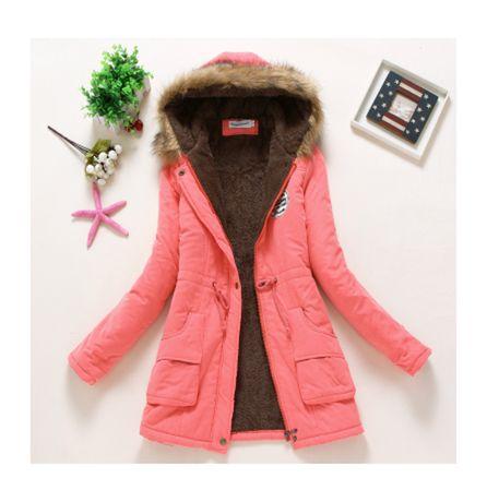 Damska kurtka zimowa różowa