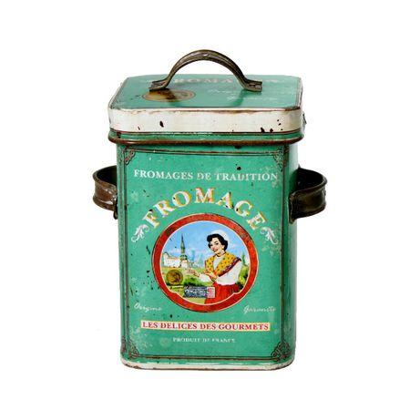Caixa Retangular Cilíndrica Metal Box Vintage-NOVO byOVO HOME