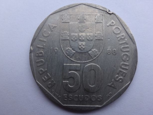 Moeda 50 escudos - 1988