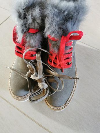 Buty NOWE botki zimowe kozaki śniegowce 36