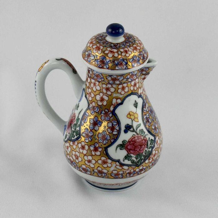 Leiteira com tampa porcelana, réplica Companhia das Índias, nº 5