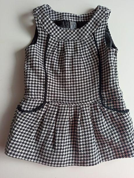 Sukienka pepitka Zara 92/98