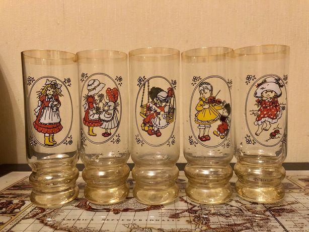 Набор стаканов (фужеров) 5 штук