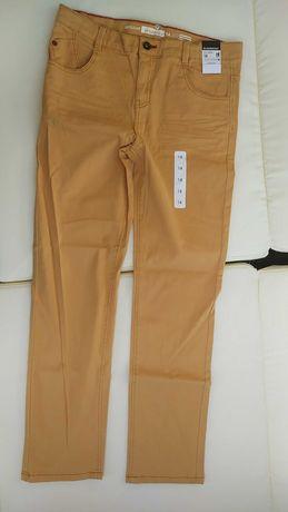 InExtenso 14 lat - 164 NOWE musztardowe jeansy, regulacja.