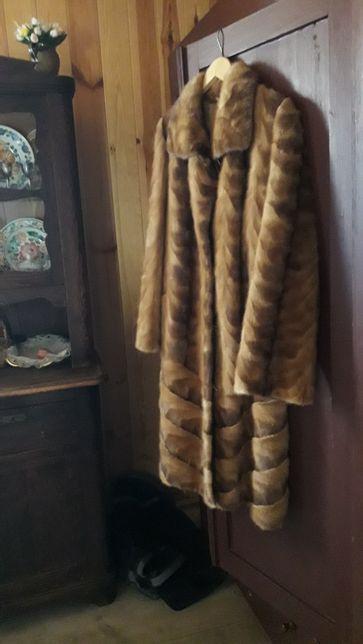 Futro JAK NOWE futerko z norek rozmiar L XL brązowe
