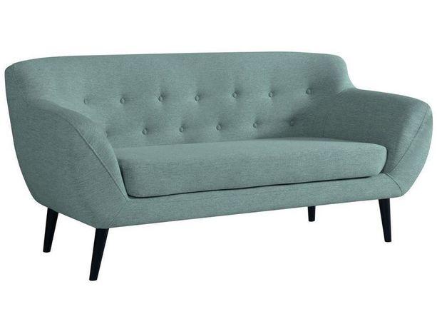 Sofa FINKA III PIK miętowy do gabinetu pikowana retro prl do salonu