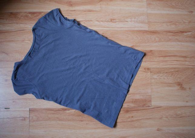 koszulka basic szara ciemno rozm l