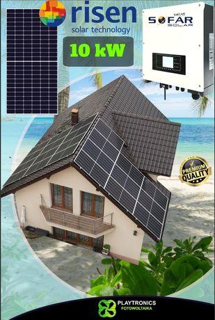 Fotowoltaika dach 9.9kW grunt 10kW panele RISEN 450Wp 500Wp z montażem