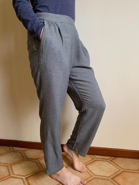 Calças largas cinzentas, Zara, M