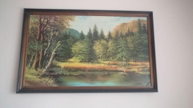 Картина  пейзаж, в деревянной рамке