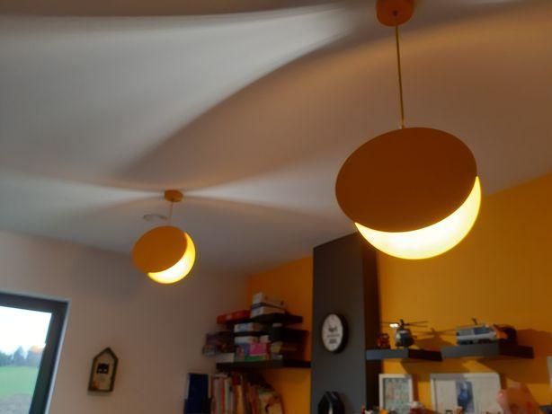 Lampa wisząca żółta 2 sztuki pokój Lego księżyc