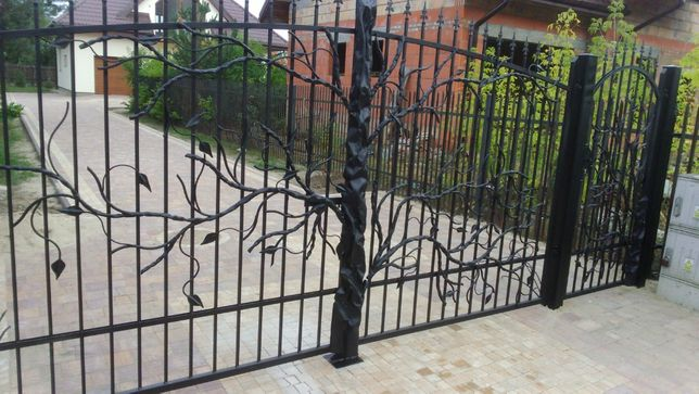 Brama kuta BR-85 MONTAŻ GRATIS ogrodzenie płot nowoczesna mazowieckie