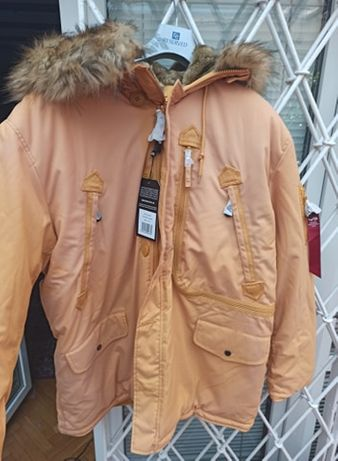 Kurtka Parka zimowa Polar Jacket Alpha Industries Żółta 2XL