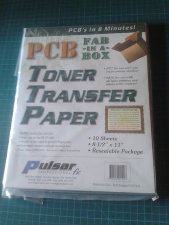 Press-n-Peel Blue Transfer Film p/ PCBs (c/ Portes)