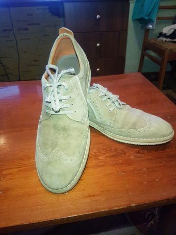 Туфли замшевые  ecco