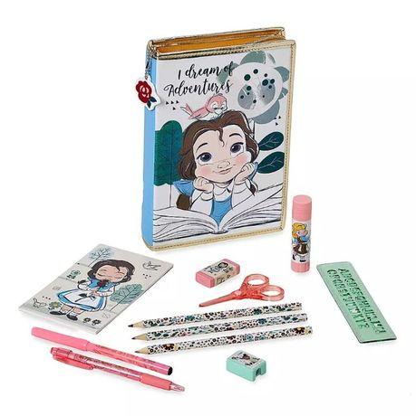 Пенал для девочки в школу с канцелярией Дисней.