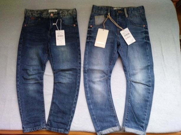2 szt. NOWE spodnie,jeansy RESERVED r.116 i 122 chinos