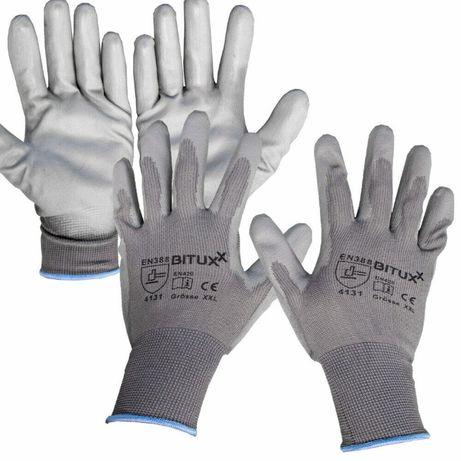 R1-20 Rękawice ochronne z powłoką PU 20par S-XXL ROBOCZE