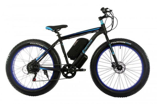 """Электро Fatbike обод 26""""х4"""" велосипед E-motion 48V 16Ah 1000W рама 19"""""""