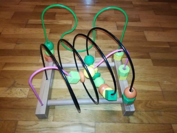 Mula IKEA zabawka edukacyjna przeplatanka drewniana j. nowa