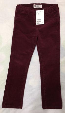 Вельветовые джинсы h&m для девочки