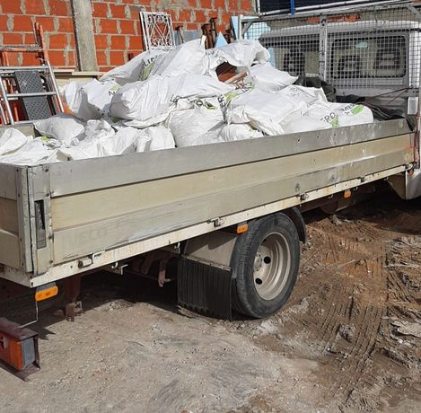 Contentores e carrinhas p/ entulho de obras, demolições e remodelações