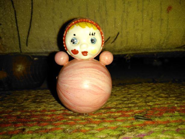 Раритетная игрушка неваляшка кукла 7см