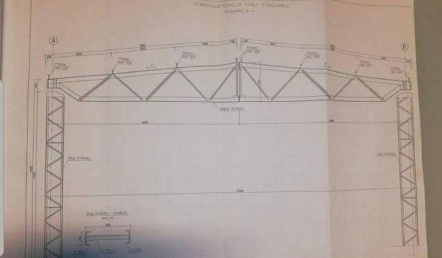 Kratownice dachowe 18m szerokie skręcane