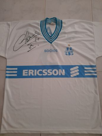 Camisola assinada - Laurent Blanc (Olympique de Marseille)