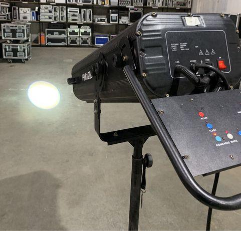 Reflektor prowadzący punktowy FollowSpot 1200W HMI Nowe Lampy! CASE