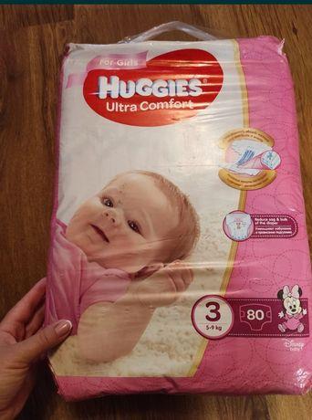 Памперсы для девочек Huggies ultra comfort 3 80