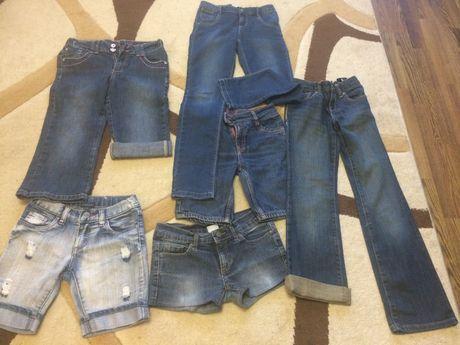 шорты джинсовые для девочки 7- 8лет