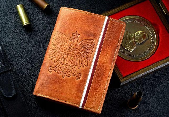 PATRIOTYCZNY Męki portfel Skóra 100% RFID 4 kolory Pudełko wysyłka
