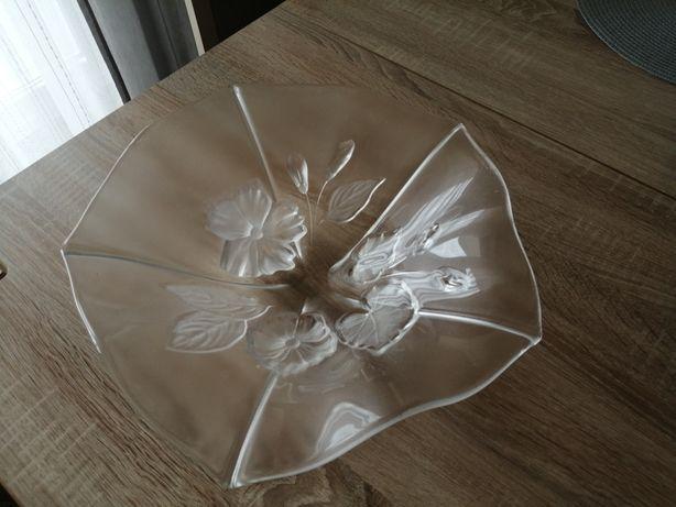 Patera misa kwiaty włoskie szkło śr 33cm