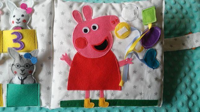 quiet book, książka sensoryczna, książeczka z filcu, dla dziecka