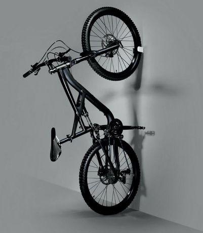 Wieszak na rower CLUG MTB L biały/czarny 42-62mm