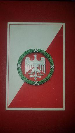 Orzeł Piastów na pocztówce z 1918 roku