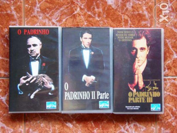 """VHS """"Chapin em Pack de 10 -Trilogia O"""" Padrinho"""" e outras Colecções ra"""