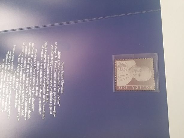 Znaczek srebrny Papież Jan Paweł II - folder