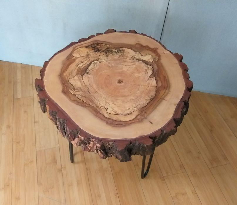 Stolik kawowy z plastra drewna/Wierzba/Olej/Nowy Zawoja - image 1