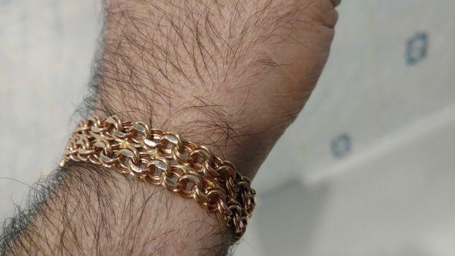 Золотой браслет 585 пробы,вес 17,20 грамм.